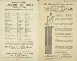 Advert for Norton's Abyssinian Tube Wells